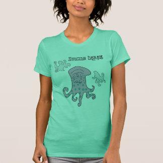 kvinna stoney det fridsamma monster tee shirt