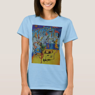 Kvinna surrealistiska utslagsplats t-shirts