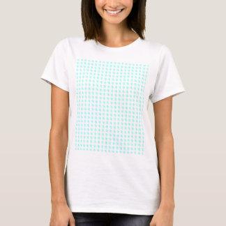 Kvinna T-skjorta med belade med tegel Cyan Twirls Tee Shirt