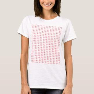 Kvinna T-skjorta med belade med tegel röda Twirls T Shirts