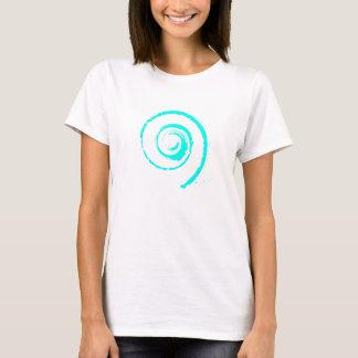 Kvinna T-skjorta med Cyan Twirl T-shirts