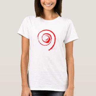 Kvinna T-skjorta med röd Twirl Tröja