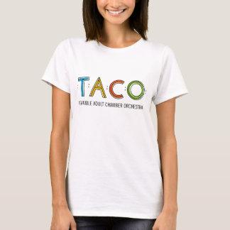 Kvinna T-tröja för Hanes Nano TACO, vit Tröja