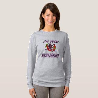 Kvinna T-tröja för långärmad för hästskor Tröjor