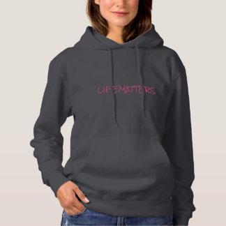 """Kvinna tröja för Pullover """"för LIFEMATTERS"""" Hooded"""