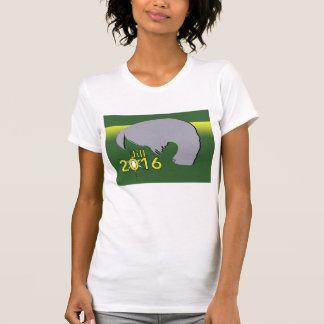 Kvinna TShirt grafiska Jill 2016 för dräktrund Tee Shirts