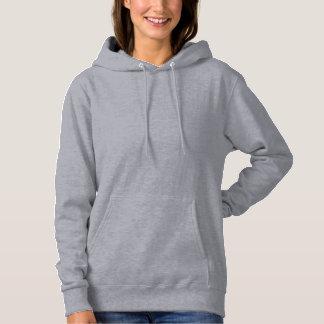 Kvinna tycker om grundläggande Hooded tröja