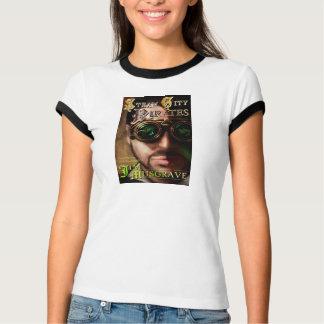 """Kvinna utslagsplats för bokomslag """"för pirater för tee shirt"""