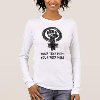 Kvinna utslagsplats för konst för klotter för tee shirts