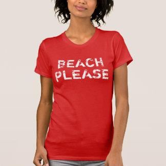 Kvinna vintagestranden behar t-shirts