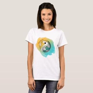 Kvinna yin för färgstänk och yang volleyboll tröja