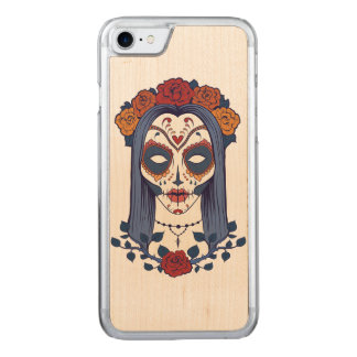 Kvinnaday of the dead carved iPhone 7 skal