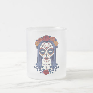 Kvinnaday of the dead frostad glasmugg