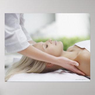 Kvinnahälerimassage Poster