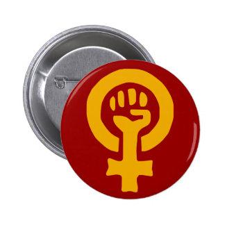 Kvinnan driver knäppas standard knapp rund 5.7 cm