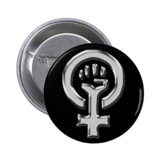 Kvinnan driver krom knäppas standard knapp rund 5.7 cm