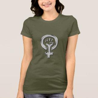 Kvinnan driver kromkvinna t-skjorta t-shirt