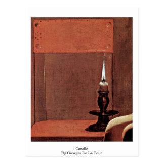 Kvinnan specificerar: Stearinljus av Georges De La Vykort