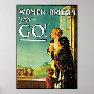 Kvinnanågot att säga går! - Affisch