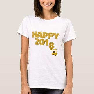 KvinnaT-tröja för gott nytt år 2018 Tshirts