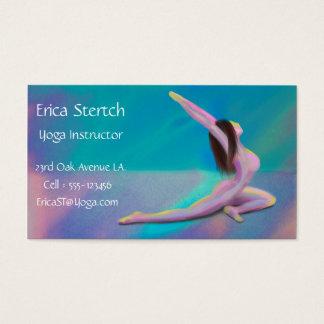 KvinnaYoga poserar i pastellfärgade färger - Visitkort
