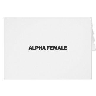 Kvinnlig alfabetisk hälsningskort