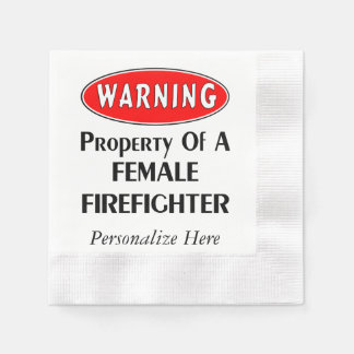Kvinnlig brandmanegendom pappersservett