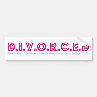 Kvinnlig definition av skilsmässan bildekal