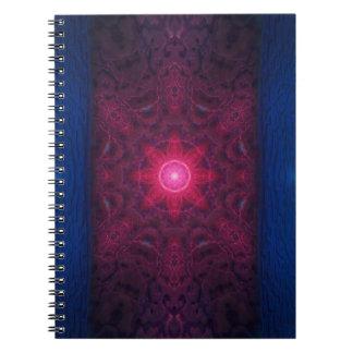 Kvinnlig energi anteckningsbok med spiral