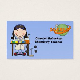Kvinnlig forskare i labbvisitkortar visitkort