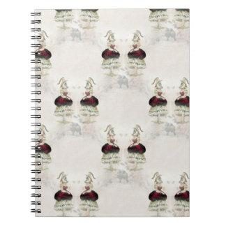 Kvinnlig ögaanteckningsbok anteckningsbok
