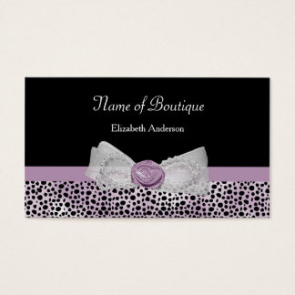 Kvinnlig pilbåge för flickaktigt purpurfärgad visitkort