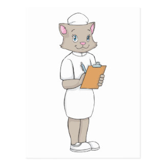 Kvinnlig sjuksköterskakatt