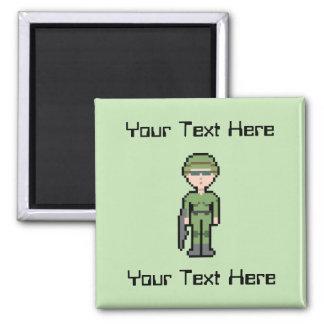 Kvinnlig soldat för beställnings- text magnet