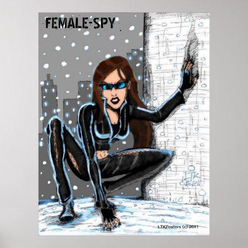 Kvinnlig spion affisch