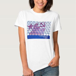kvinnlig t-skjorta för sovjetisk marschpropaganda t-shirt