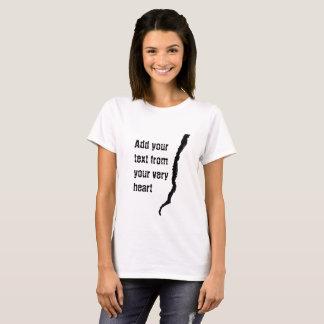 Kvinnlig T-tröja för spricka Tröja