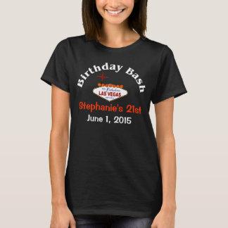 Kvinnlig T-tröja Las Vegas för 21st födelsedag Tröjor