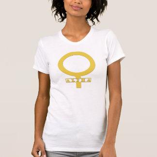 Kvinnlig utslagsplats för alfabetisk t-shirt