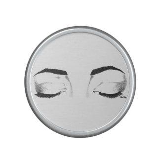 Kvinnliga ögon skissar bluetooth speaker