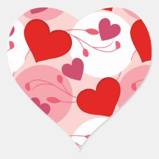 Kvinnliga rosor för valentines day för hjärtformat klistermärke