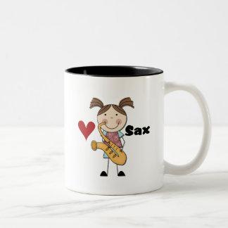 Kvinnliga saxofonspelareTshirts och gåvor Kaffe Kopp