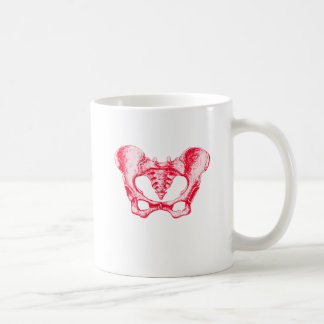 Kvinnligt bäcken kaffemugg