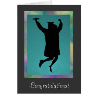 Kvinnligt gratulerart för studenten på prestation hälsningskort