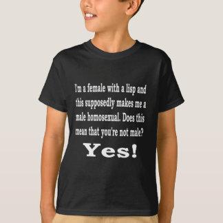 Kvinnligt läspa, b t-shirts