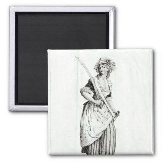 Kvinnligt sans-Culotte, 1792 Magnet