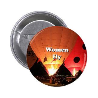 Kvinnor flyger: luftballong 2 standard knapp rund 5.7 cm