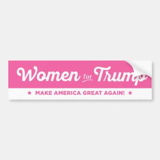 Kvinnor för den Donald Trump bildekalet 2016 Bildekal