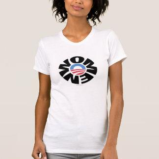 Kvinnor för den Obama tshirten T Shirts