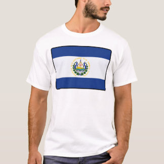 Kvinnor för El Salvador flaggamanar T Shirt